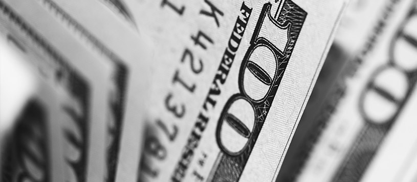 US hundred dollar bill - federal reserve